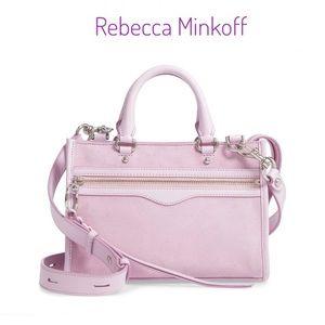 REBECCA MINKOFF Micro Bedford suede SATCHEL bag
